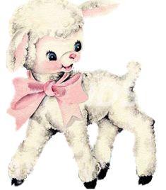 Vintage Image Shabby Baby Nursery Little Lamb Waterslide Decals Lamb Drawing, Sheep Drawing, Images Vintage, Vintage Pictures, Vintage Prints, Vintage Toys, Vintage Nursery, Vintage Greeting Cards, Illustrations