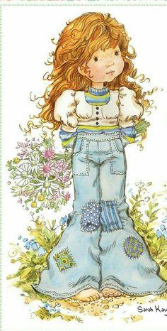 Sarah Key, Holly Hobbie, Sara Key Imagenes, Hobbies For Women, Hobby Horse, Vintage Drawing, Cute Illustration, Cute Art, Cute Kids