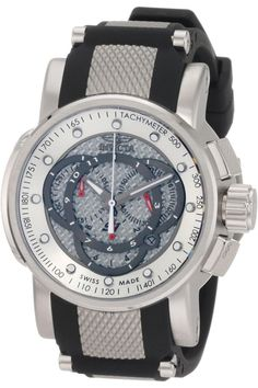 Men's Wrist Watches - Invicta Mens 0895 Touring Sport Chronograph Black Rubber Watch >>> More info could be found at the image url. Sport Watches, Cool Watches, Watches For Men, Wrist Watches, Trendy Watches, Stainless Steel Texture, Stainless Steel Case, Patek Philippe, Devon