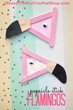 Popsicle Stick Flamingo - Kid Craft! Cute idea for summer speech therapy or an articulation craft for /l/ blends!