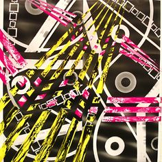 "Claudia Pampin - Love and Friendship, 36""x 34"", acrylic on photo, $300"