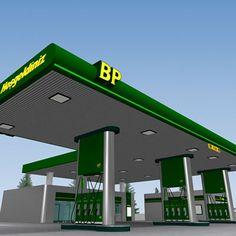Bp Gas Station 3D Model - 3D Model