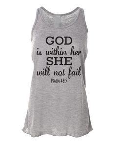Running Tank Top Psalm 465 God Is Within Her. by WorkItWear, $23.95