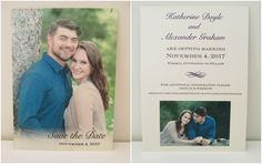 2 Sided Save The Dates Date Cards Custom Invitations Dating