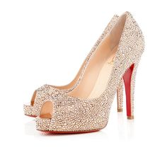 Christian Louboutin Very Riche 120mm Nude Strass Women Special-Occasion