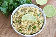 Cilantro Lime Quinoa - I have been a little shy of making quinoa because it looked so darn healthy and a little bland. I stand corrected. Followed this recipe to the letter. It's very tasty. The texture is great. Enjoy!