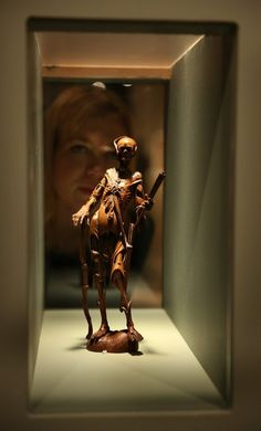 An 18th century fruitwood Memento Mori is shown at the Death: A Self-portrait exhibition at the Wellcome Collection on November 14, 2012 in London, England. The exhibition showcases 300 works from a unique collection by Richard Harris, a former antique print dealer from Chicago, devoted to the iconography of death. The display highlights art works, historical artifacts, anatomical illustrations and ephemera from around the world and opens on November 15, 2012 until February 24, 2013.  (Photo…