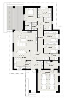 House Sketch Design, House Design, Architecture Art, Planer, House Plans, Sweet Home, Floor Plans, Flooring, How To Plan