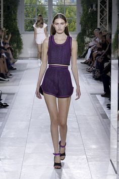 Balenciaga offers this beautiful plum colored athletic outfit for the ultimate sport-luxe look for spring summer 2014. Read more http://styledrama.com/2014/02/11/sports-luxe-fashions-spring-summer-2014/