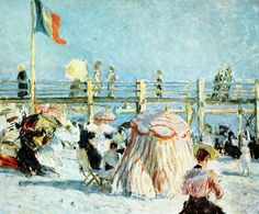Raoul Dufy - Bains du Casino a Sainte Adresse Renoir, Art Fauvisme, Monet, Art Français, Raoul Dufy, Le Havre, Impressionist Art, Scenic Design, French Art