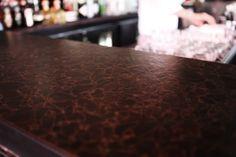 Bio Glass Fossil Amber In Balans Restaurant Biscayne Boulevard (Miami) # Countertop #