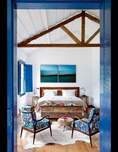 Fazenda Catucaba, Brazil. Suites have a rustic-chic charm, with wooden floorboards and working fireplaces