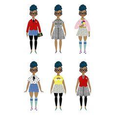 Rosemarie Paper Doll