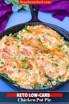 Easy, Keto Low-Carb Chicken Pot Pie is the best, quick homemade recipe that includes how to make crust and dough from scratch. The pot pie filling is made of almond flour using the stovetop and is loaded with cauliflower, celery, and other vegetables. Substitute for turkey if you wish. #KetoRecipes #KetoPotPie Low Carb Chicken Recipes, Keto Recipes, Cooking Recipes, Kraft Recipes, Recipes Dinner, Free Recipes, Healthy Recipes, Chicken Pot Pie Crust, Homemade Chicken And Dumplings