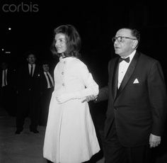 Jacqueline Kennedy visits The Wildenstein Art Gallery to view the Eisenhower Collection on May 17th 1967 escorted by French financed Andre Meyer