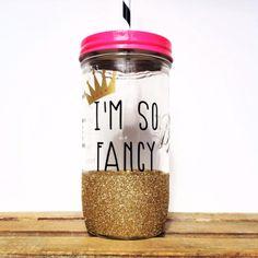 Personalized Tumbler - 24oz Mason Jar Tumbler - Bachelorette Party Glass, Bridesmaids Gift, Wedding Glass
