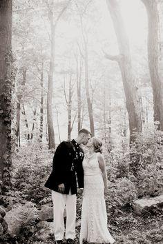 A Military Story: {Real Wedding} Emily & Adam ; A vintage, Hawaiian, military wedding celebration! #militaryweddings