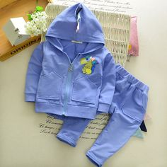 2017 Spring/Autumn Dinosaur Baby Clothes 2pc toddler girl clothing sets cartoon boys clothes zip hooded+sport trousers tracksuit #Affiliate