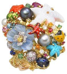 Caribbean Reef, i gioielli ispirati al mare. Anello by Santagostino.