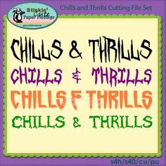 Chills and Thrills Cutting File Set