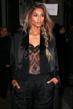 We love the lace details on Ciara's nighttime look.