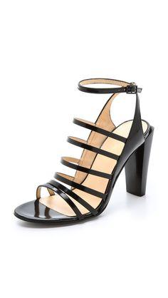 Perfect Strappy Sandals: 3.1 Phillip Lim Ella High Heel Black Sandals.