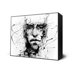 """Lines Hold The Memories. Artist: Agnes Cecile. Artist Info: Silvia Pelissero, a painter best known as Agnes Cecile, was born in Rome, Italy. Using simple images coupled with abstract color and detail, Agnes Cecile creates rich, emotional human portraits. This fine art print is mounted on a 2"""" deep hand stained black frame. Published Exclusively by Eyes On Walls. Comes Framed and Ready-to-hang."""