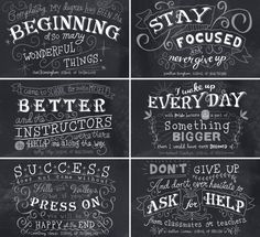 Advice from art school. hand lettered chalk by Nate Williams.