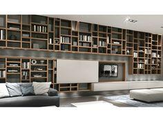 CROSSING Libreria con illuminazione by MisuraEmme design Mauro Lipparini, CRS MisuraEmme