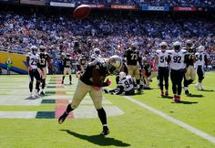 Saints vs. Chargers Updated October 2, 2016  -  35-34:      New Orleans Saints running back Mark Ingram reacts after scoring a touchdown during the first half of an NFL football game against the San Diego Chargers, Sunday, Oct. 2, 2016, in San Diego.