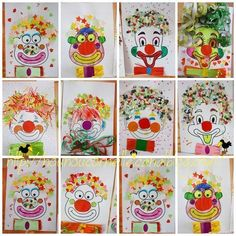 't Is Carnaval! - - 't Is Carnaval! Clown Crafts, Circus Crafts, Carnival Crafts, Circus Art, Circus Theme, Summer Crafts, Diy Crafts For Kids, Art For Kids, Arts And Crafts