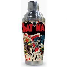 Coqueteleira de Metal Batman Play Cards #Batman #DCComics #LojaDCComics