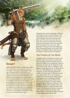 DnD Homebrew — Khajiit race by Akitcougar Dungeons And Dragons 5e, Dungeons And Dragons Homebrew, Dnd Characters, Fantasy Characters, Fantasy Creatures, Mythical Creatures, Pathfinder Races, Science Fiction, Dnd Classes