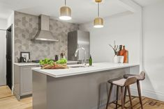A Brooklyn Browstone Garden-Level Apartment Renovation Grey Ikea Kitchen, Ikea Kitchen Cabinets, Real Kitchen, Condo Kitchen, Nyc Brownstone, Brooklyn, Garden Levels, Apartment Renovation, Kitchen Trends