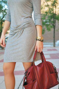 Draped Detail Dress