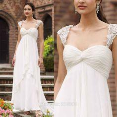 Empire-Waist-Maternity-Wedding-Dress-for-Pregnant-Beach-wedding-dresses-Ivory-Chiffon-Bridal-Gown-font-b.jpg (1000×1000)