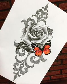 #roses #rosestattoo #tattoos #tattoo #tattooart #butterfly  #dotwork