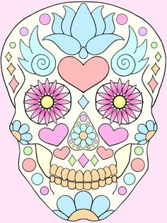 Image result for easy day sugar skull drawings