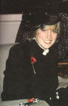 Diana, Princess of Wales. (an unusual photo of Princess Diana with a very natural smile on her face.)