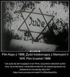 Kapo's film from 1999 tells the story of a Jewish Kapo working for Nazi Germany. Poland Facts, Poland History, Politics, Film, Cos, Beautiful, Ideas, War, Soldiers