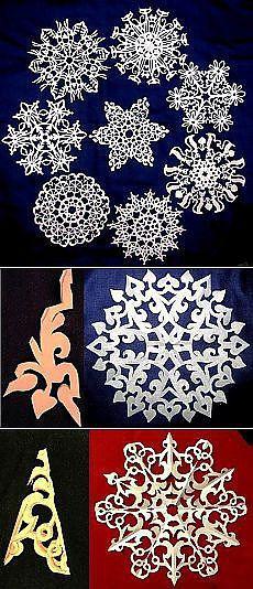 Поиск на Постиле: снежинки из бумаги