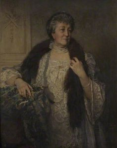 """""""Juliette Pollexfen Deane"""", 1907, by George Percy Jacomb-Hood (British, 1857-1929). Mrs. Deane is one of the pioneer women of New Zealand mentioned in 'Over the Wide and Trackless Sea' by Megan Hutching, a history of """"a dozen women of all walks of life, whose personal tales of triumph and adversity make compelling reading, and whose contribution helped forge the character of contemporary Aotearoa""""."""