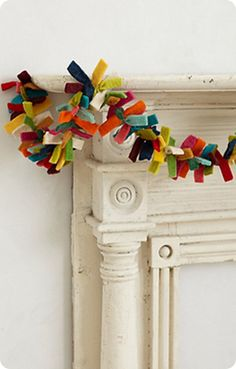discard the garland, I love this surround Mantel!  Must try to make a replica for our house!