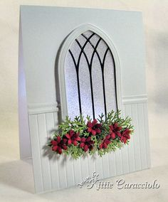 Uses the Poppy Stamps Small Gothic Window and Small Gothic Arch