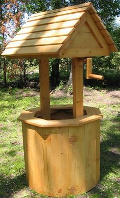 Captivating 60 INCH Pine Wishing Well Yard And Garden Ornament. $154.00, Via Etsy.