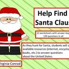 Get kids excited about using reference books and the internet as they try to locate Santa!  These 12 worksheets (with answer keys) put Santa in pla...