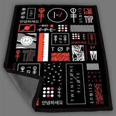 Twenty One Pilots Icons Blanket Fleece Design Bedding Quilt Throw Blankets
