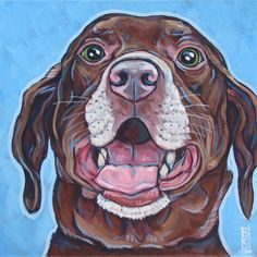 Boomer the Brown Lab Dog from Pet Portraits by Bethany