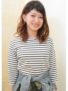 one by one 【ワンバイワン】 オン眉アシメバング×グラデーションカラー