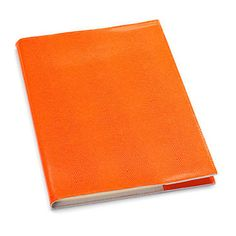 Refillable Lizard Print Leather Journal  How luxurious! Would love to write in this - and in bright orange too!! Timeless